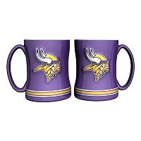 Minnesota Vikings 2-pc. Relief Coffee Mug Set