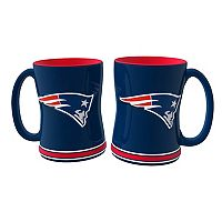 New England Patriots 2-pc. Relief Coffee Mug Set