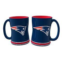 New England Patriots 2-pc. Relief Coffee Mug Set