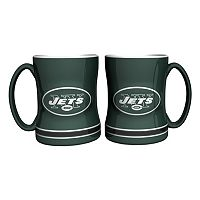 New York Jets 2-pc. Relief Coffee Mug Set