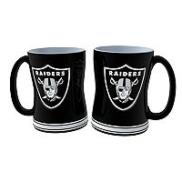 Oakland Raiders 2 pc Relief Coffee Mug Set