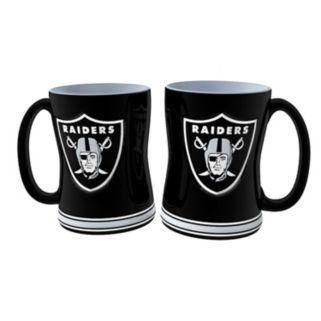 Oakland Raiders 2-pc. Relief Coffee Mug Set