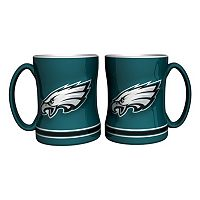 Philadelphia Eagles 2-pc. Relief Coffee Mug Set