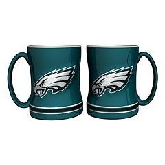 Philadelphia Eagles 2 pc Relief Coffee Mug Set