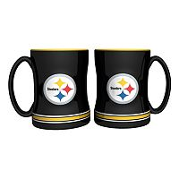Pittsburgh Steelers 2 pc Relief Coffee Mug Set