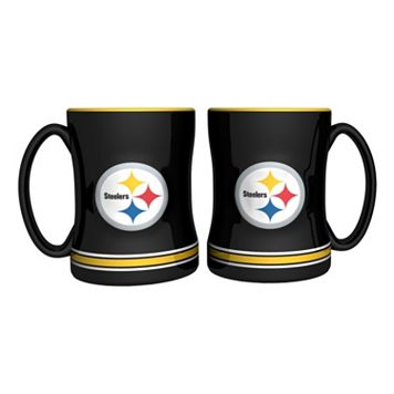 Pittsburgh Steelers 2-pc. Relief Coffee Mug Set