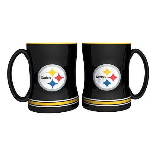 Pittsburgh Steelers 2-pc. Relief Coffee Mug Set