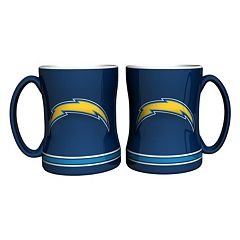San Diego Chargers 2-pc. Relief Coffee Mug Set