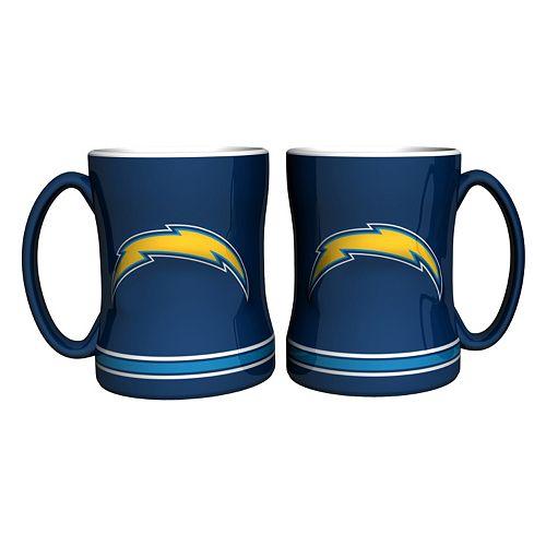San Diego Chargers Coffee Mug: San Diego Chargers 2-pc. Relief Coffee Mug Set