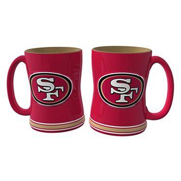 San Francisco 49ers 2-pc. Relief Coffee Mug Set