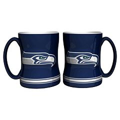 Seattle Seahawks 2 pc Relief Coffee Mug Set