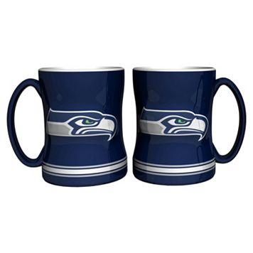 Seattle Seahawks 2-pc. Relief Coffee Mug Set
