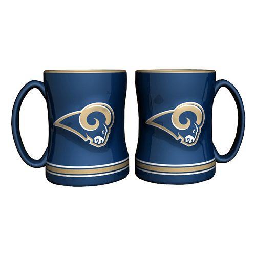 Saint Louis Rams 2-pc. Relief Coffee Mug Set