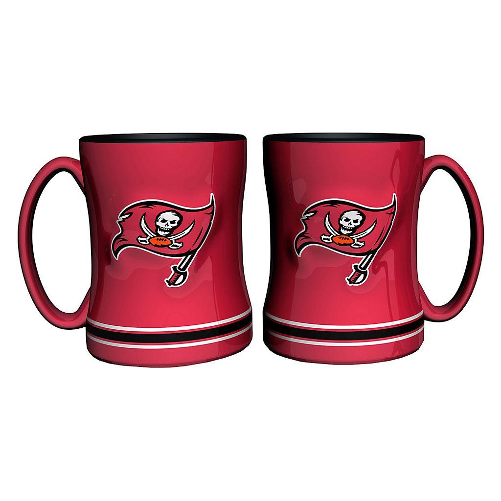 Tampa Bay Buccaneers 2-pc. Relief Coffee Mug Set