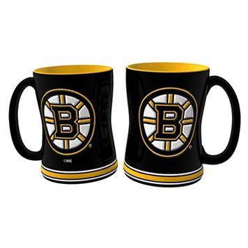 Boston Bruins 2-pc. Relief Coffee Mug Set