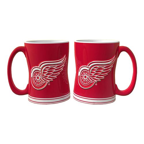Detroit Red Wings 2-pc. Relief Coffee Mug Set