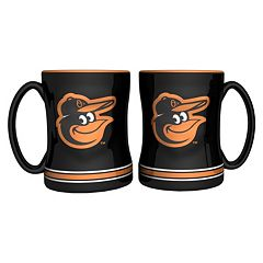 Baltimore Orioles 2 pc Relief Coffee Mug Set