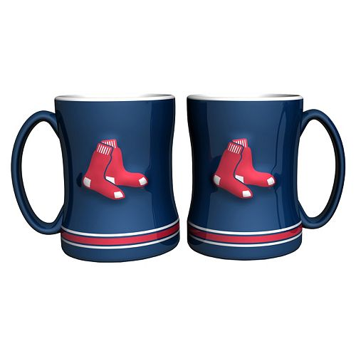 Boston Red Sox 2-pc. Relief Coffee Mug Set
