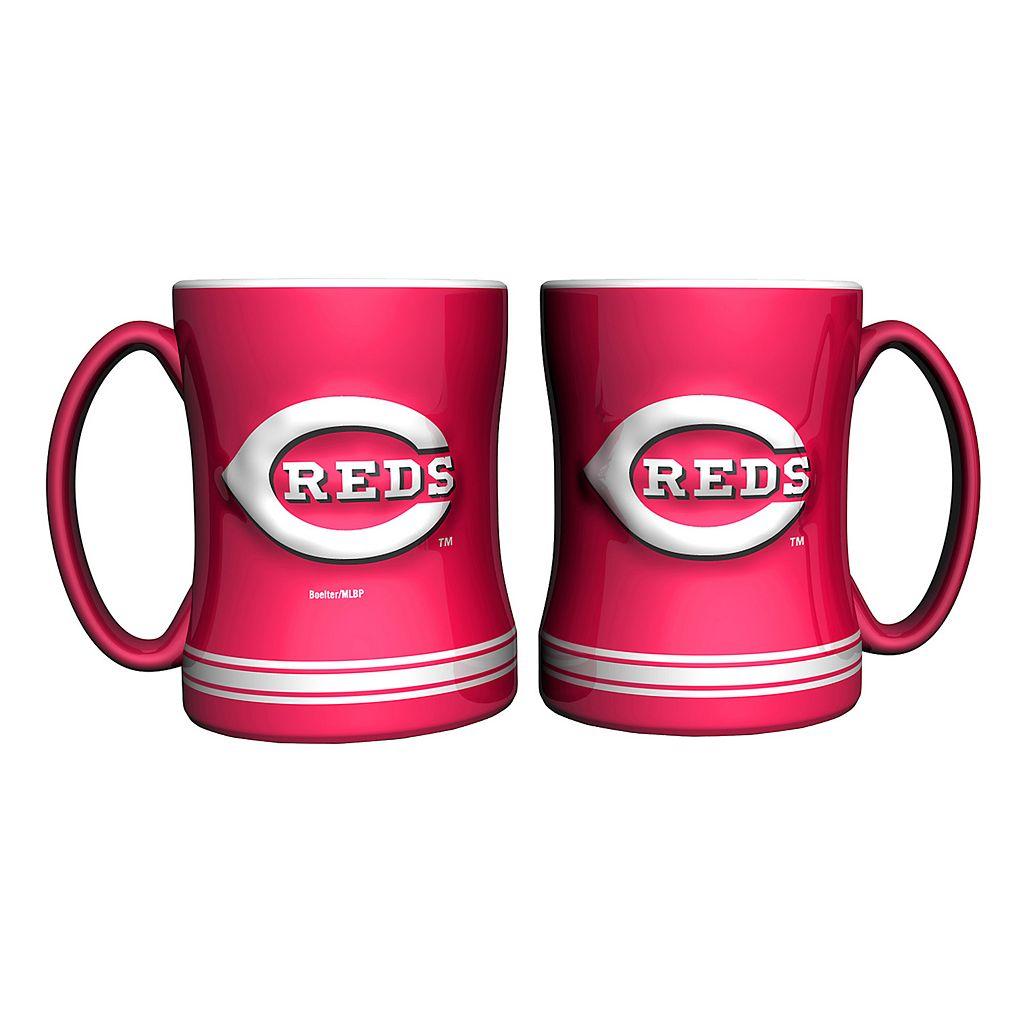 Cincinnati Reds 2-pc. Relief Coffee Mug Set