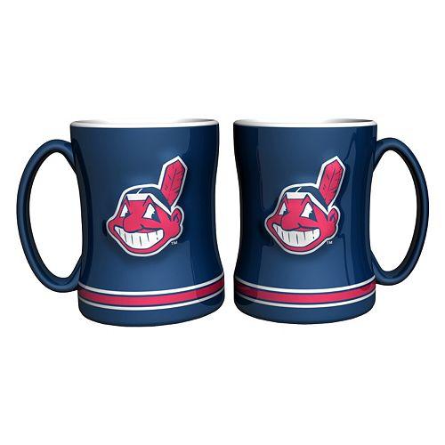 Cleveland Indians 2-pc. Relief Coffee Mug Set