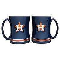 Houston Astros 2-pc. Relief Coffee Mug Set
