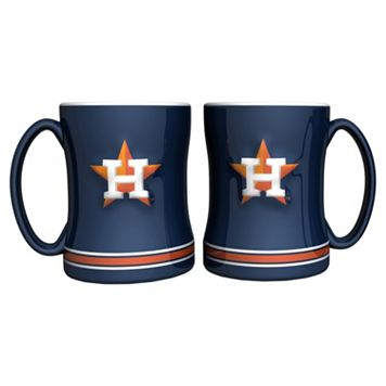 Houston Astros 2-pc. Relief Coffee Mug Set