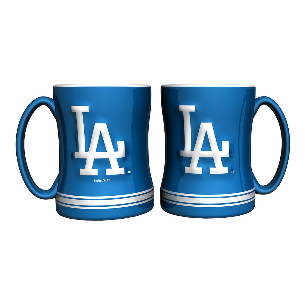 Los Angeles Dodgers 2-pc. Relief Coffee Mug Set