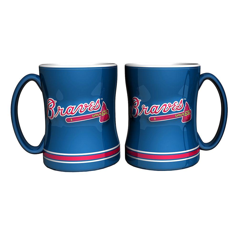 Atlanta Braves 2-pc. Relief Coffee Mug Set