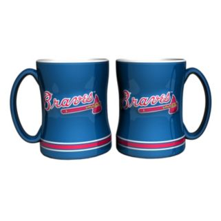 Atlanta Braves 2-pc. Relief Coffee Mug Set
