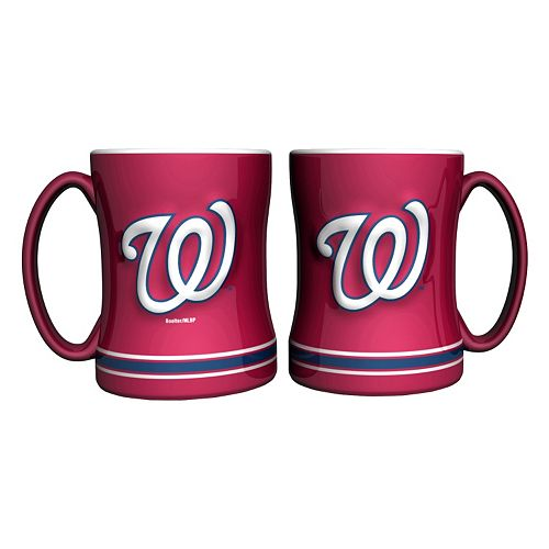 Washington Nationals 2-pc. Relief Coffee Mug Set