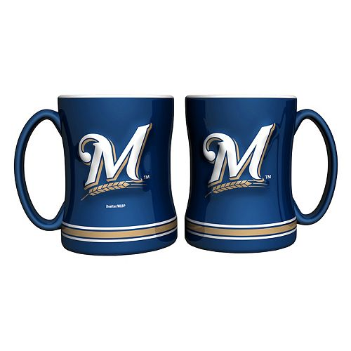 Milwaukee Brewers 2-pc. Relief Coffee Mug Set