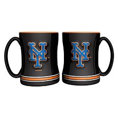 New York Mets 2-pc. Relief Coffee Mug Set