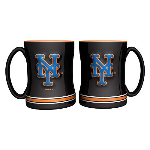 New York Mets 2-pc. Relief Coffee Mug Set