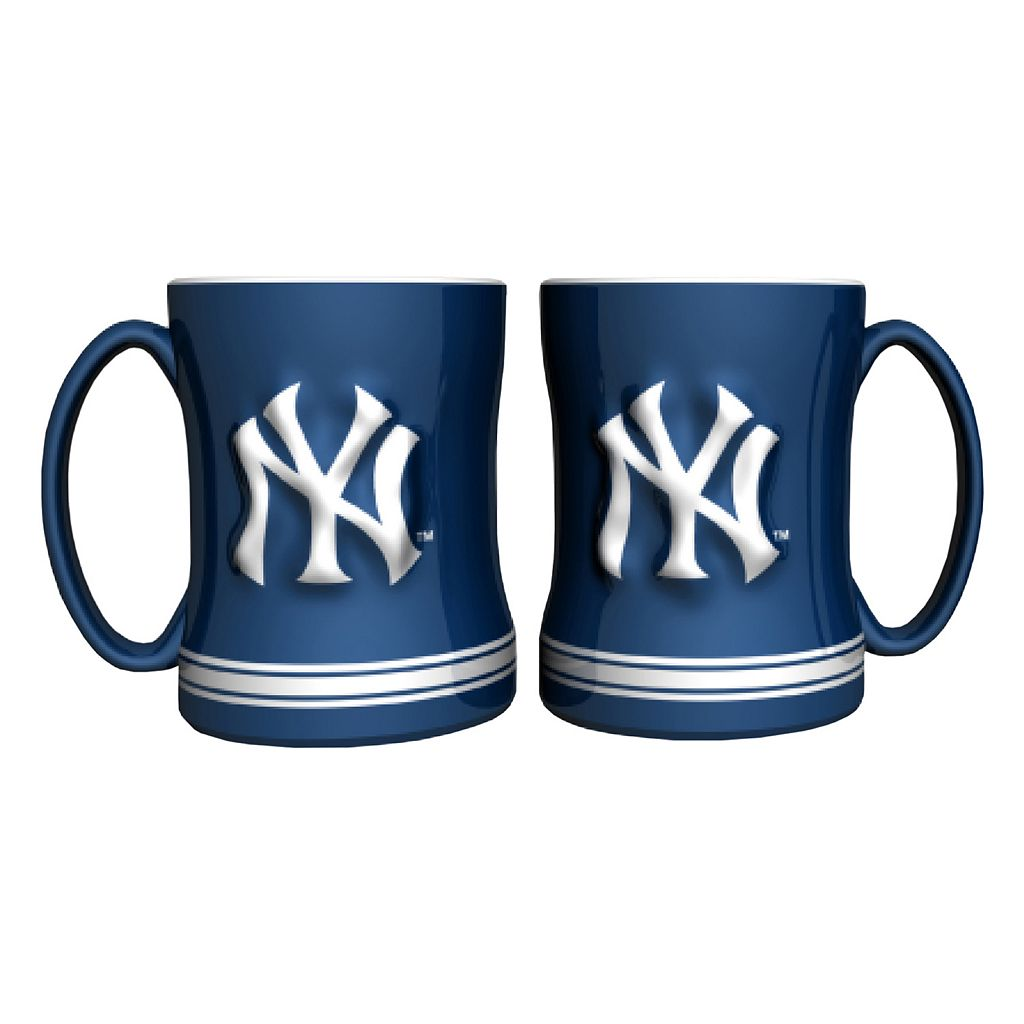 New York Yankees 2-pc. Relief Coffee Mug Set