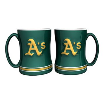Oakland Athletics 2-pc. Relief Coffee Mug Set