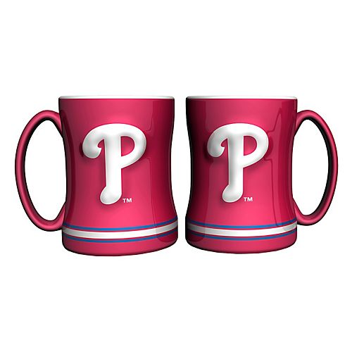 Philadelphia Phillies 2-pc. Relief Coffee Mug Set