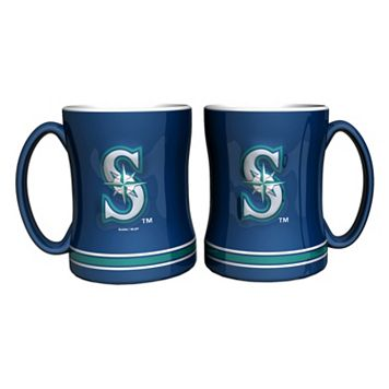 Seattle Mariners 2-pc. Relief Coffee Mug Set