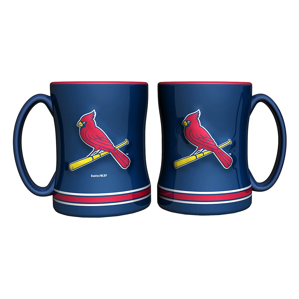 St. Louis Cardinals 2-pc. Relief Coffee Mug Set