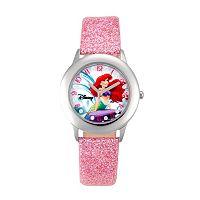 Disney Princess Ariel Juniors' Leather Watch
