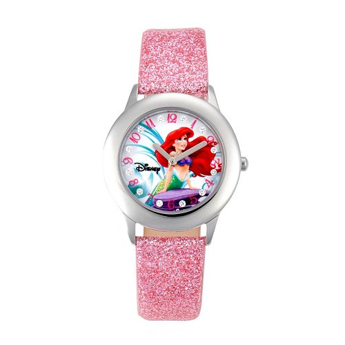 Disney Princess Ariel Juniors' Leather Watch