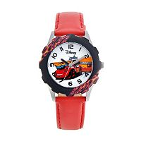 Disney / Pixar Cars Lightning McQueen Juniors' Leather Watch
