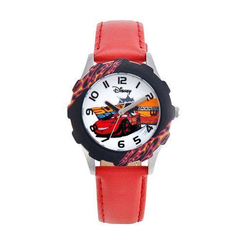 Disney / Pixar Cars Lightning McQueen Juniors' Leather Watch
