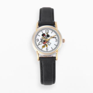 Disney's Minnie Mouse Women's Two Tone Leather Watch