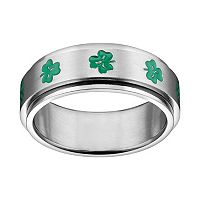 Stainless Steel Clover Spinner Band