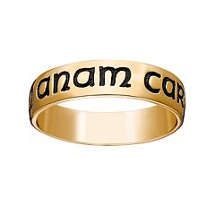 18k Gold Over Silver 'Mo Anam Cara' Wedding Band