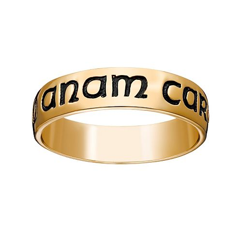 "18k Gold Over Silver ""Mo Anam Cara"" Wedding Band"