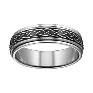 Stainless Steel Celtic Knot Spinner Band