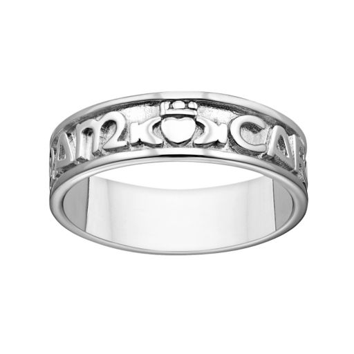 Sterling Silver Mo Anam Cara Band