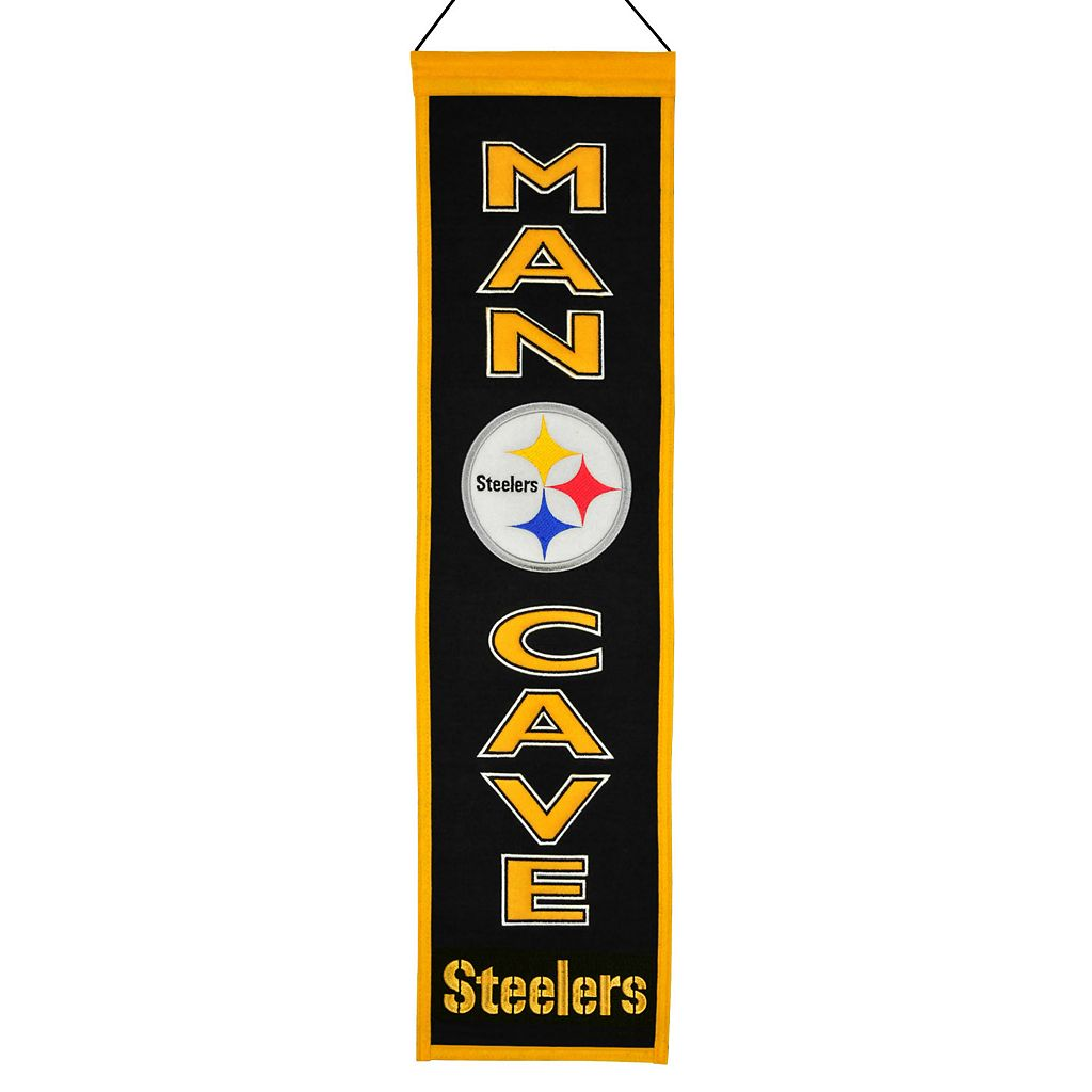 Pittsburgh Steelers Man Cave Banner