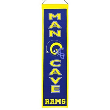 Saint Louis Rams Man Cave Banner
